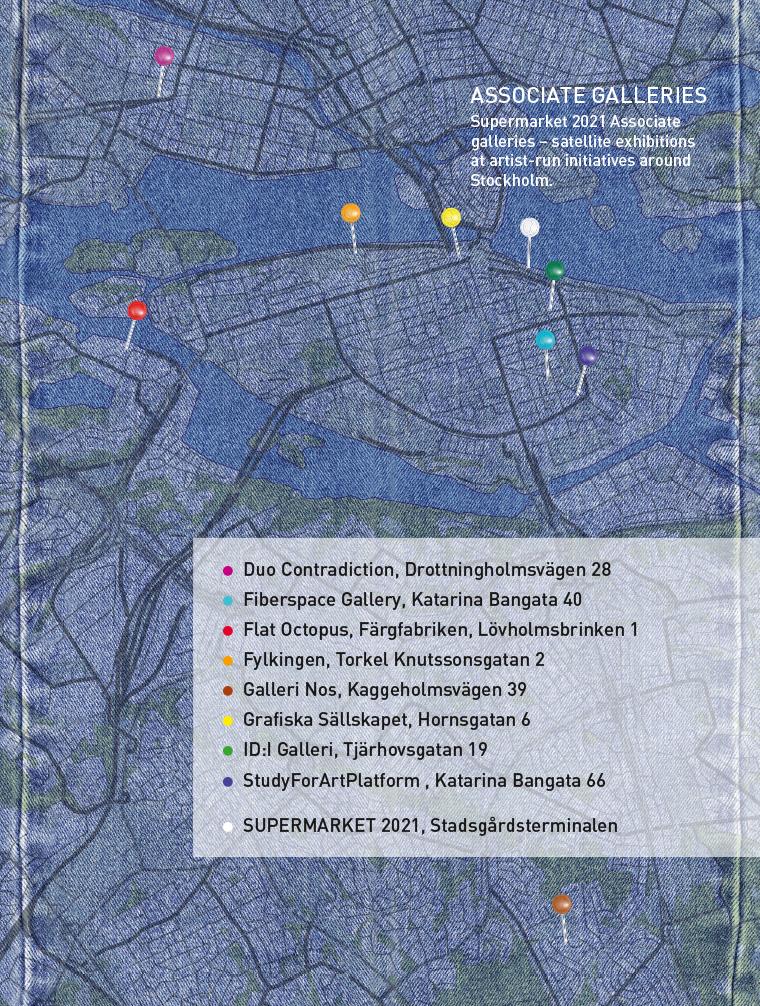 Map of Associate galleries 2021